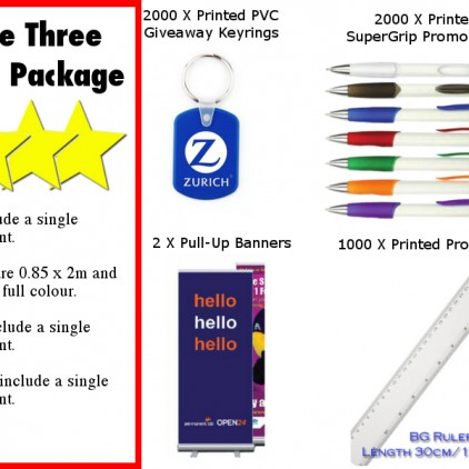 Three Star Trade Stand Package