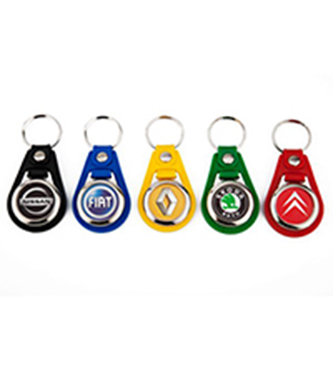 leather trolley coin keyring colors
