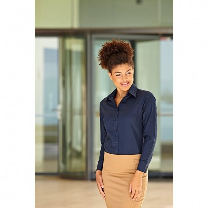 Fruit of the Loom Ladies Oxford Long Sleeve Shirt