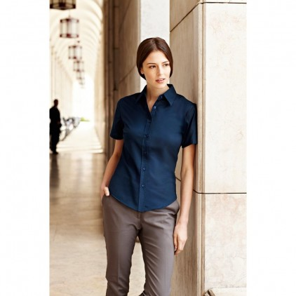 Fruit of the Loom Ladies Oxford Short Sleeve Shirt