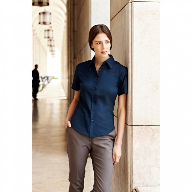 Fruit of the Loom Ladies Oxford Short Sleeve Shirt