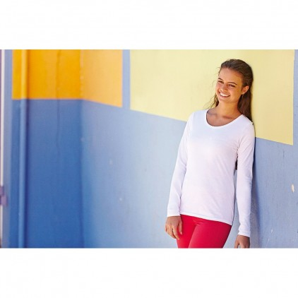 Fruit of the Loom Ladyfit Valueweight Long Sleeve Tee