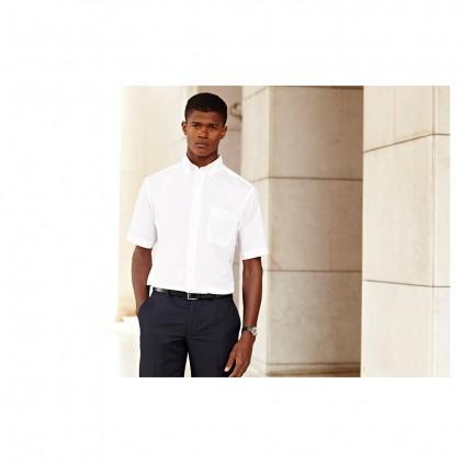 Fruit of the Loom Mens Oxford Short Sleeve Shirt