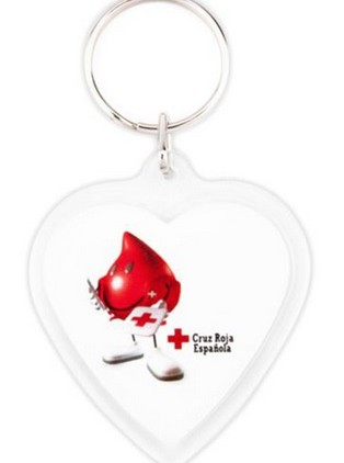 acrylic heart two side key ring